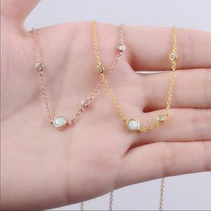 Jewelry - Opal crystal rose gold constellation necklace